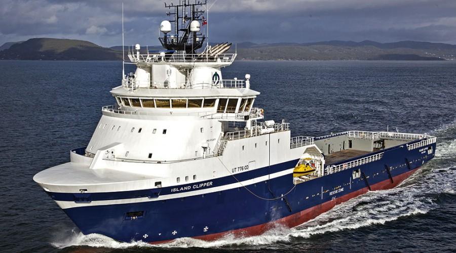 Illustrasjonsbilde: Forsyningsskipet Island Clipper, levert fra Vard Brevik i 2015. Foto: Gunder T. Sandersen