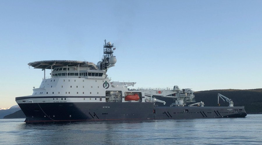 Island Victory nærmar seg levering, ifølge reiarlaget. Foto: Vard/Island Offshore