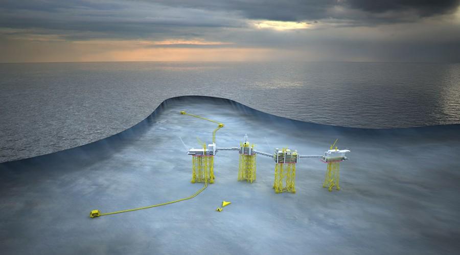 Illustrasjon av Johan Sverdrup-feltet. Foto: Statoil