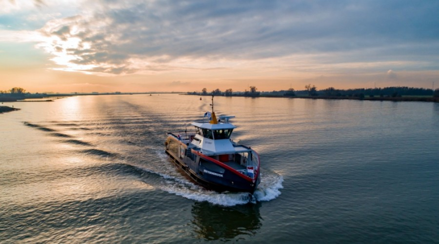 The design of the additional ferry, to be named 'Wellingdorf', is in line with the previously delivered vessel 'Düsternbrook'. Picture: Holland Shipyards.