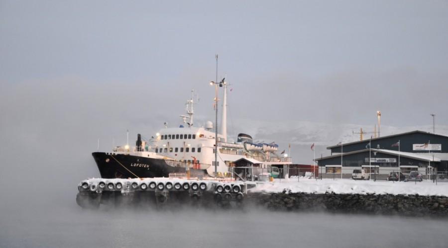 MS Lofoten i Kirkenes. Foto: Eivind Lande/Hurtigruten