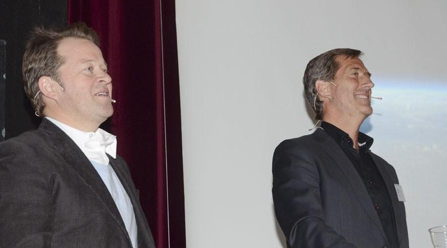 Arne Hjeltnes og Walter Qvam