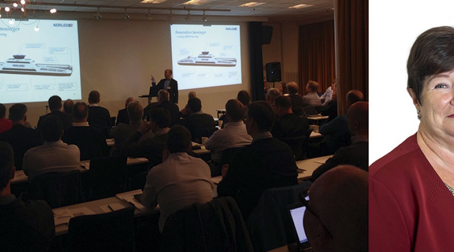 Avanserte Fartøyer 2015 ble arrangert i Bergen. Foto: NFA            NFA-Direktør Karin Sundsvik ønsker velkommen til en variert konferanse i Trondheim. Foto: NFA