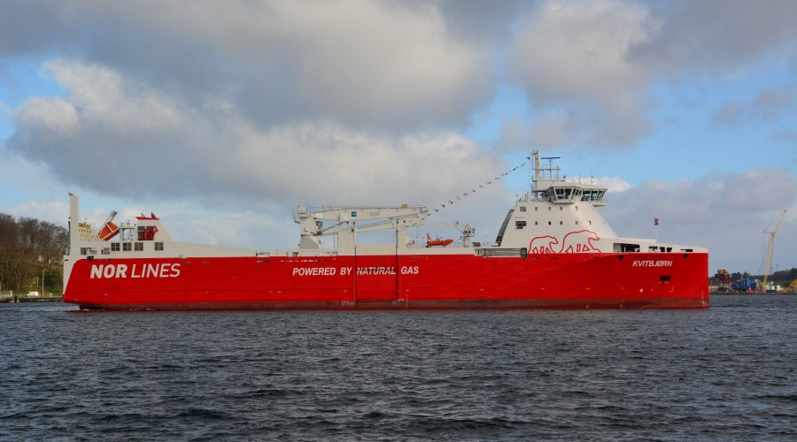 Samskip er fornøyd med å knytte til seg Kvitbjørn (bildet) og Kvitnos gjennom oppkjøpet av Nor Lines. Foto: Nor Lines.
