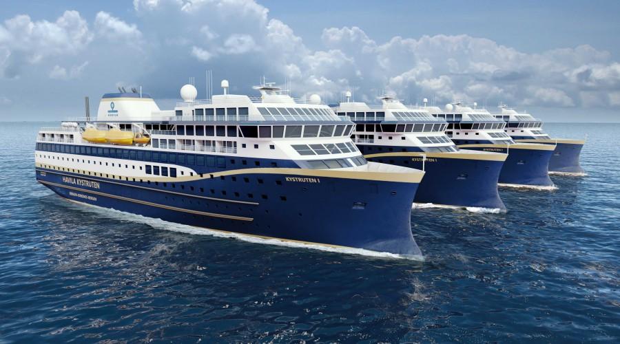 Havyard Design står bak de nyutviklede Kystrute-skipene til Havila Kystruten. Ill: Havyard Design