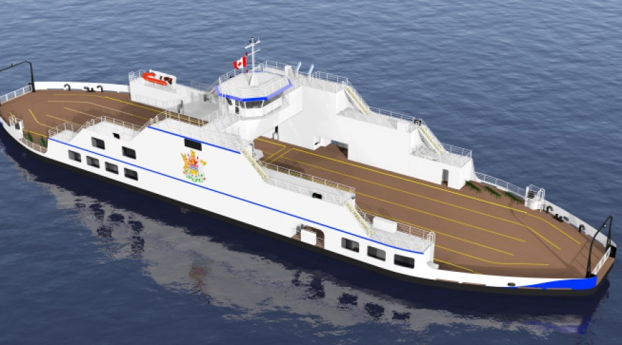 The new Kootenay Lake ferry will operate with Wärtsilä's hybrid propulsion to minimise its environmental impact. Photo: British Columbia Ministry of Transportation and Infrastructure