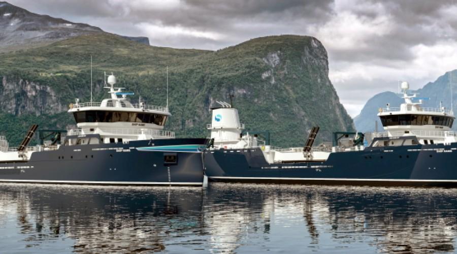 Pon Power skal levere generatorsett til to nye brønnbåter som skal bygges for brønnbåtselskapet Sølvtrans. Illustrasjon: Aas Mek. Verksted.