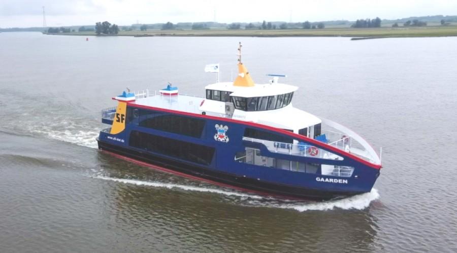 Den nye ferja skal gi lavere utslipp i Kielfjorden. Foto: Holland Shipyards Group.