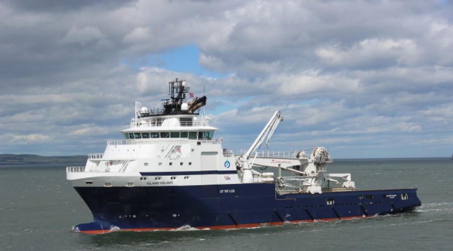 Island Valiant har leita etter mineralar i Norskehavet. Foto Glyn Lewis