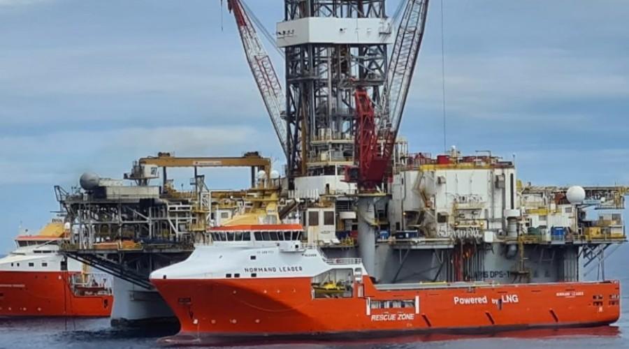 Normand Leader er ett av de tre fartøyene som skal arbeide utenfor kysten av Vest-Austalia. Foto: Solstad Offshore.