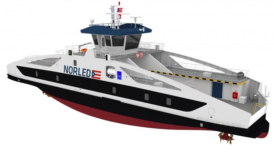 Westcon bygger ny batteriferje til Norled. Ill: Norled/Westcon