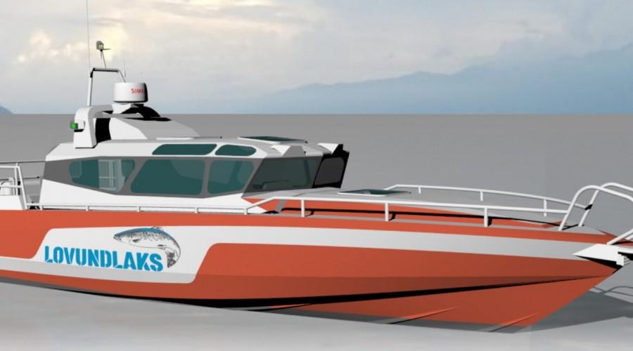 Lovundlaks ville ha en båt som tar en raskt rundt kysten året rundt. Illustasjon: Folla Maritime Service.