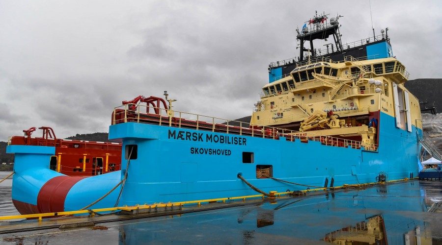 Mærsk Mobiliser er det femte skipet Kleven leverer til Mærsk i Starfish-serien. Foto: Olav Thokle/Fotomaritim