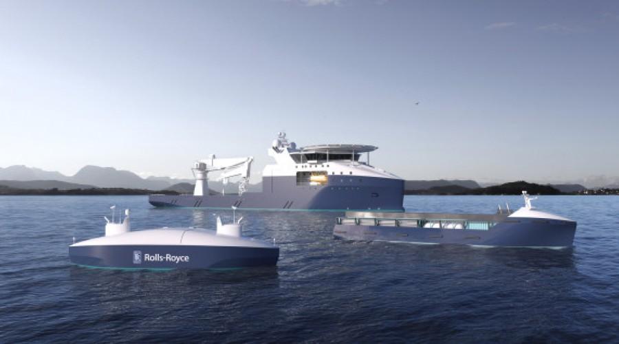 Fremtidens skip er smarte, slår Rolls-Royce fast. Illustrasjon: Rolls-Royce