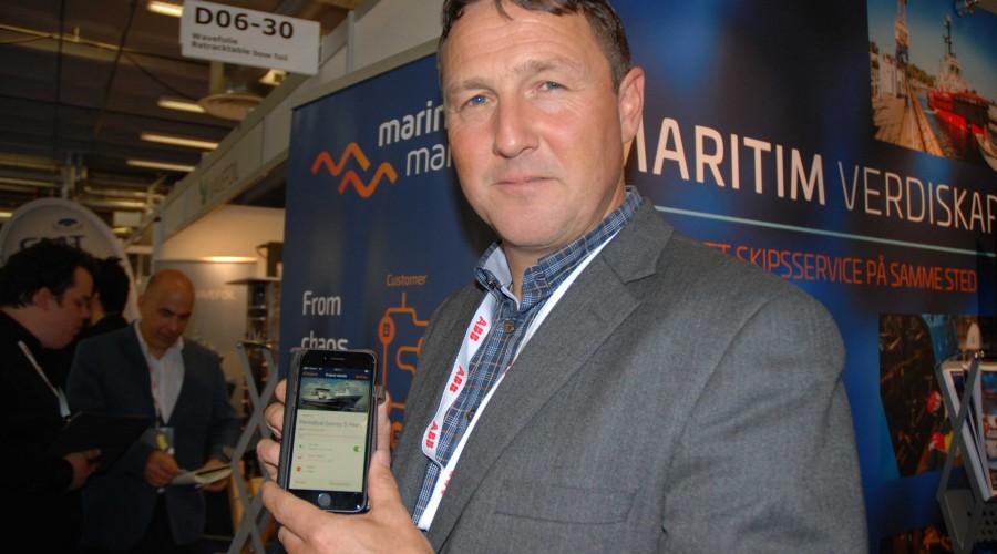 Daglig leder i Marine Manager, Torstein Rasmussen, sier det er stor interesse for selskapets prosjektstyringsapp. Foto: Kurt W. Vadset