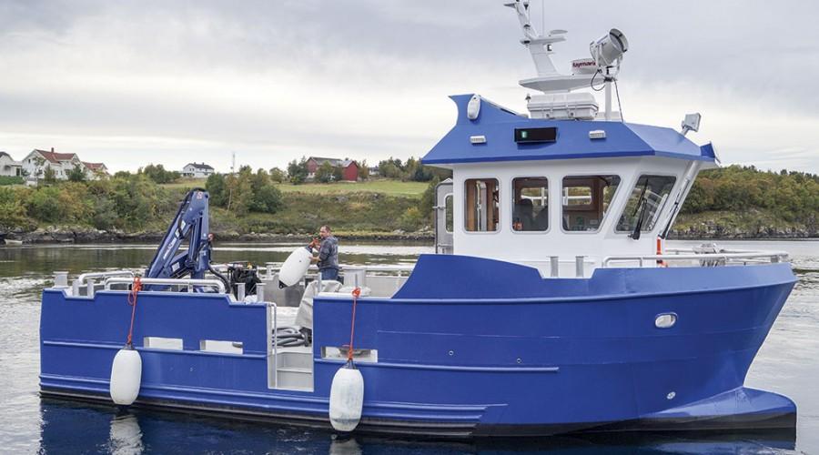 De nye båtene til NRS Finnmark har FollaWork 35-design. På bildet er Monsøy, levert 27. september 2016, med tilsvarende design. Foto: Folla Maritime