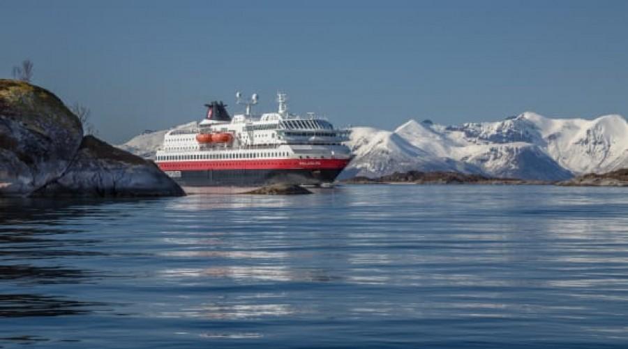 Hurtigruten tester bruk av biodiesel på MS Polarlys. Foto: Hurtigruten