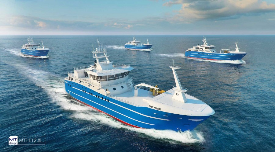 Marin Teknikks MT1112 XL-design blir å se på fire russiske autolinefartøy. Ill: Marin Teknikk