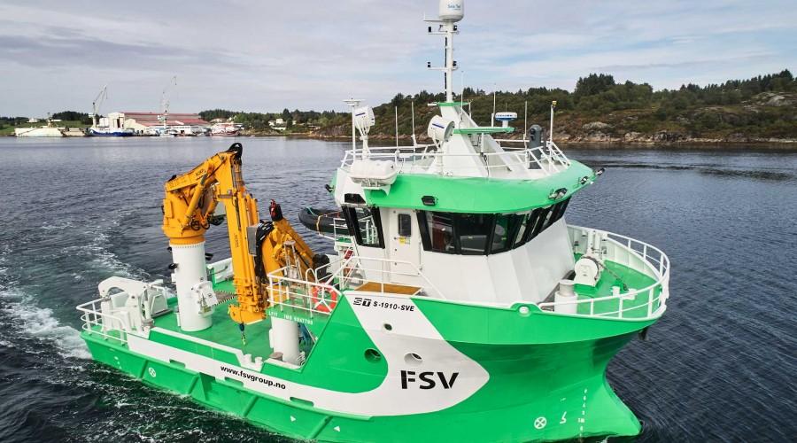 Multi Innovator har en lengde på 19 meter og bredde på 10 meter. Fartøyet er designet av Solstrand Trading og bygd ved Vard Aukra. Foto: Kjell Stian Brunes