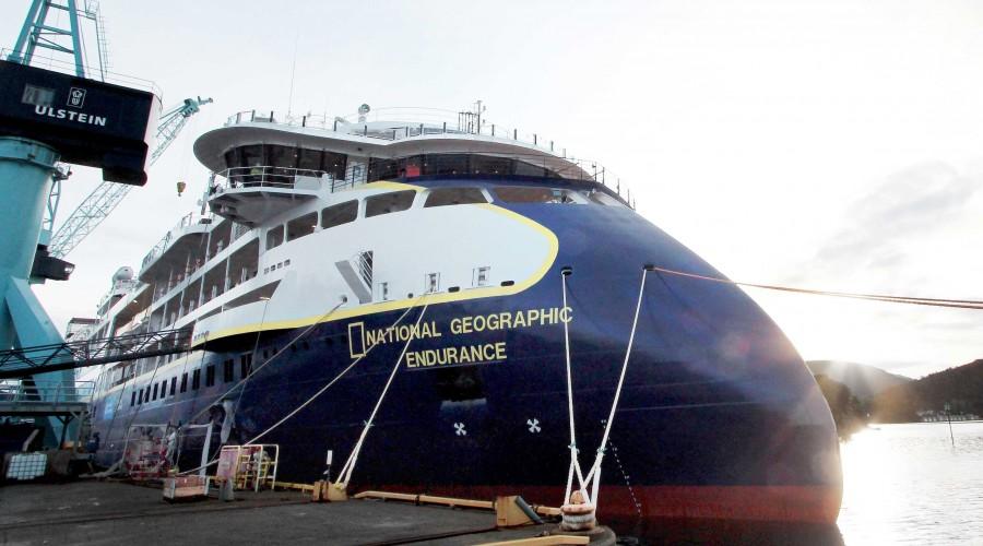 Hos Ulstein Verft er cruiseskipet NG Endurance snart leveringsklart. Foto: Ulstein Verft