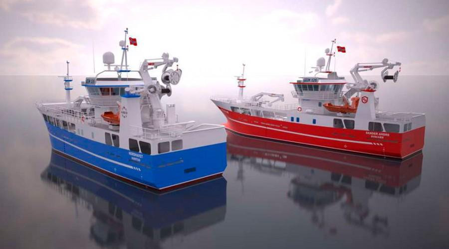 Det to nybyggene Sander Andre og Nordhavet er designet av Naval Consult. Ill. Naval Consult