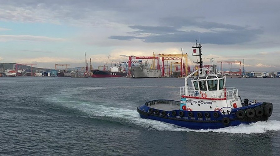 The new tug boat operates in the Port of Tuzla, Istanbul. Photo: Navtek