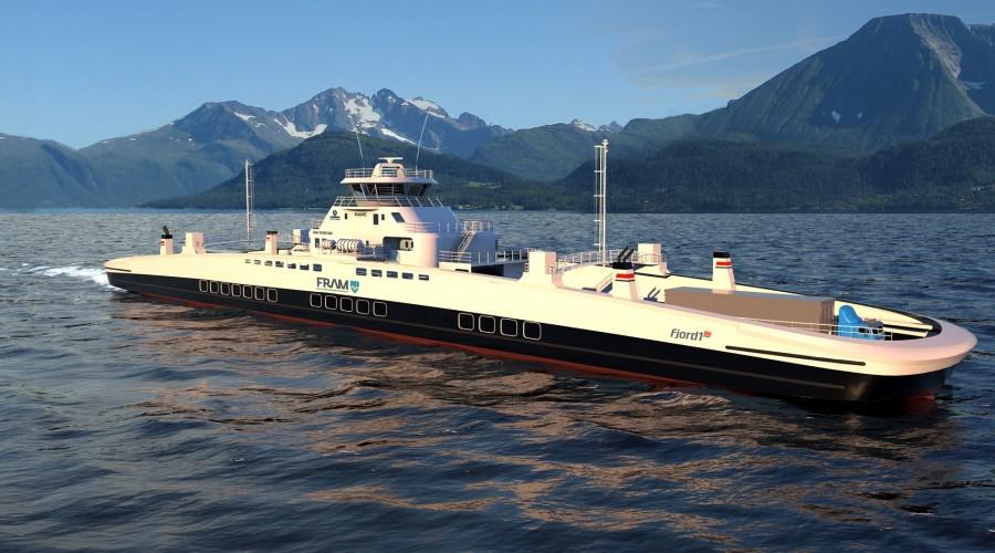 NCS skal levere fem komplette automasjonssystemer til fem Fjord1-ferjer. Illustrasjon: BowVision