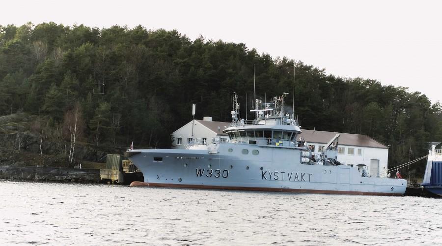 Arkivfoto av Kystvaktens fartøy Farm. Foto: Forsvarets Mediesenter