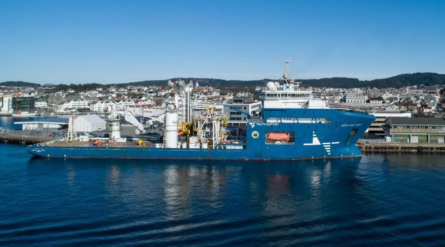 """Wärtsilä energilagringssystemer ombord på """"North Sea Giant"""" representerer betydelige mindre drivstofforbruk. Foto: Wärtsilä/North Sea Shipping"""