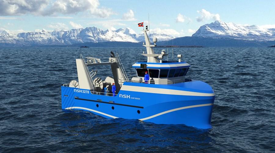Kombinert tråler og snurrevad – NSK 3278. Foto: NSK Ship Design