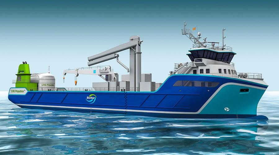 NB1070,  nytt forfartøy til Nordnorsk Shipping, designet av NSK Ship Design. Foto: NSK Ship Design