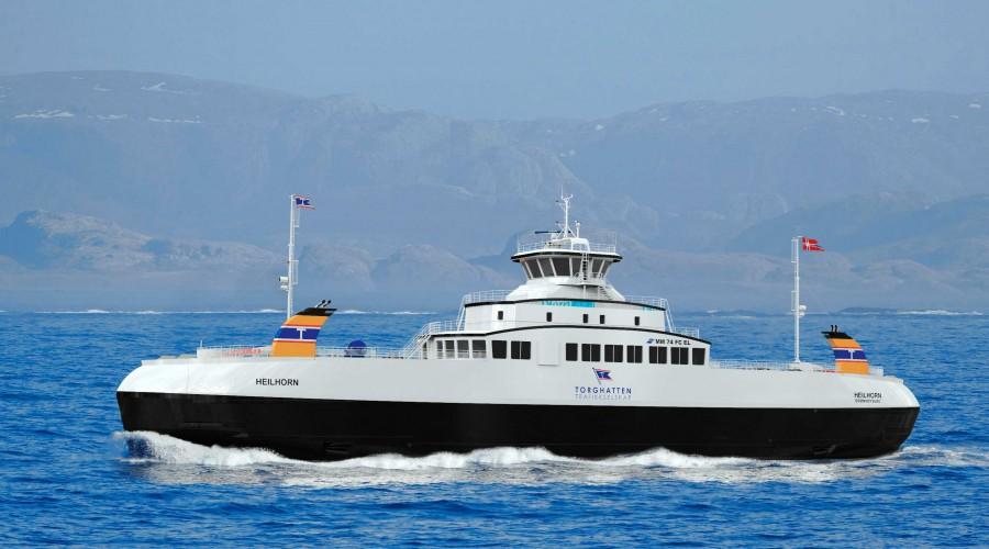 Torghatten Trafikkselskap bestiller en ny hybridferje fra Sefine i Tyrkia. Ill: Multi Maritime