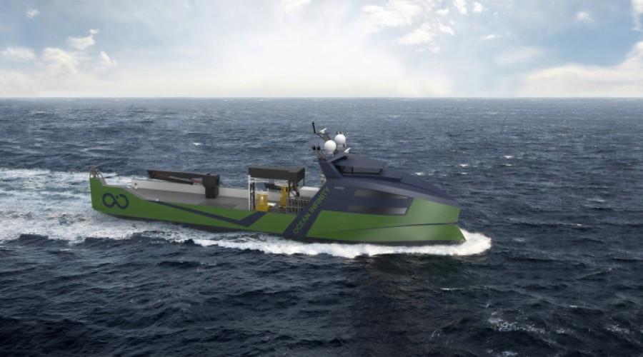 Åtte slike fartøy skal bygges ved Vards skipsverft Vung Tau i Vietnam, og leveres 2022 og 2023. Illustrasjon: Vard.