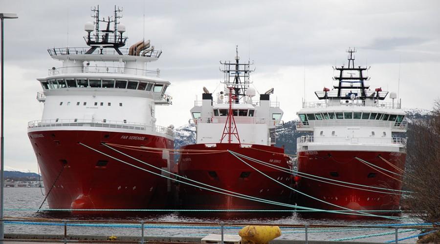 Sjøfartsdirektoratet åpner for at årsgebyr kan reduseres for offshoreflåte som legges i opplag. Illustasjonsfoto: Kurt W. Vadset