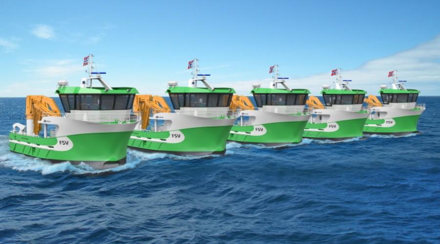 PSV Group har skrivet kontrakt om levering av fem fartøy med et nytt design. Illustrasjon: Sletta Verft.