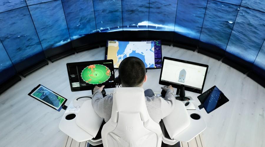 Oversiktsbilde fra Svitzer Operations Centre for tauebåter i København. Foto: Rolls-Royce