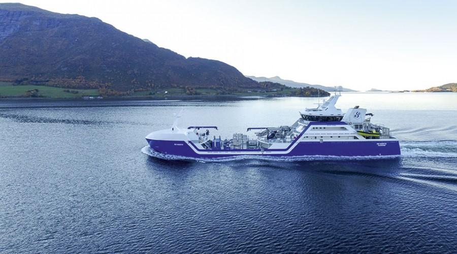 Rostein kontraherer en hybrid brønnbåt, som skal baseres på foregående nybygg fra Larsnes Mek., eksempelvis Ro North. Foto: Larsnes Mek. Verksted