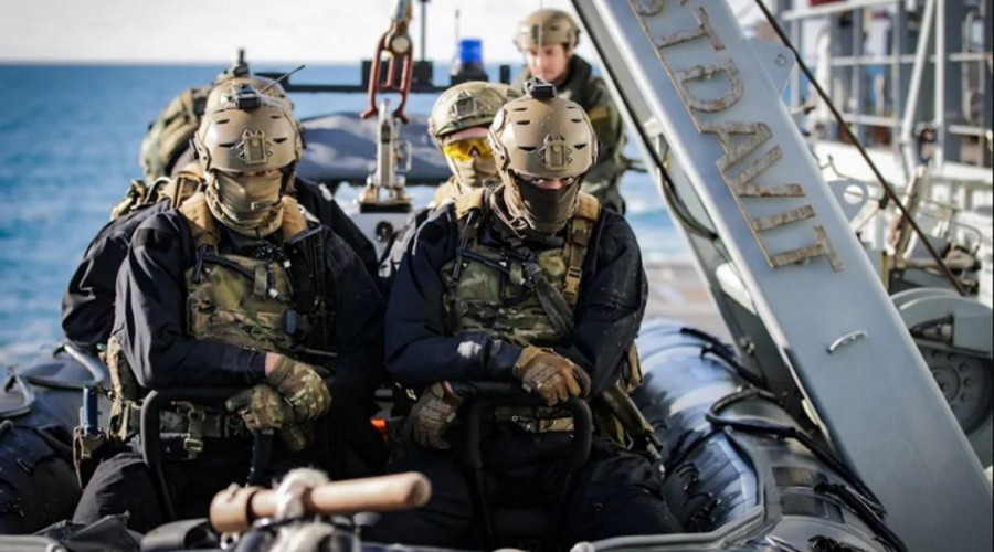 Royal Marines from HMS Tamar, Credit Royal Navy
