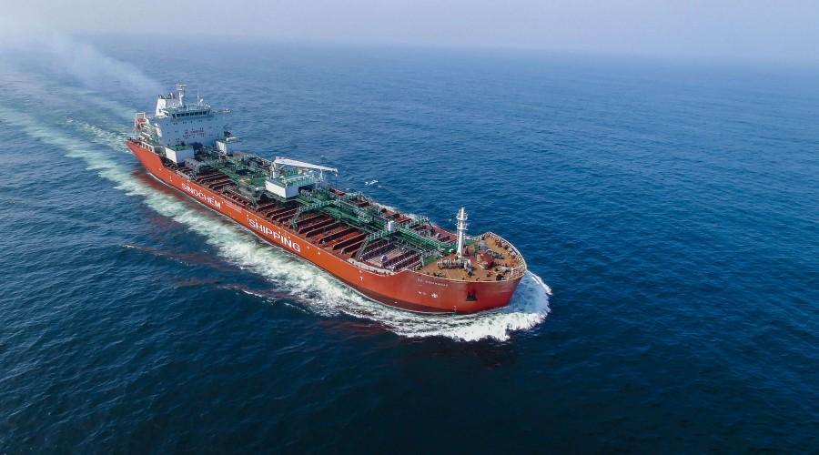 Aquarius er et av skipene i Sinochem Shipping sin flåte, som nå får DNV GL sitt softwaresystem installert. Foto: Sinochem Shipping