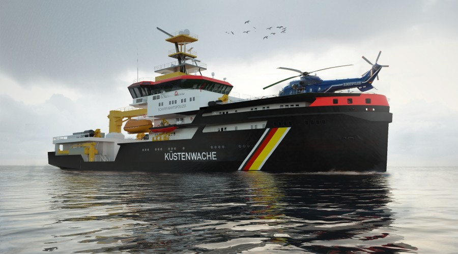 Three new multi-purpose vessels ordered from the Abeking & Rasmussen ship and yacht shipyard (A&R) by the German government for the Waterways and Shipping Administration (WSV) will be equipped with Schottel propulsion systems