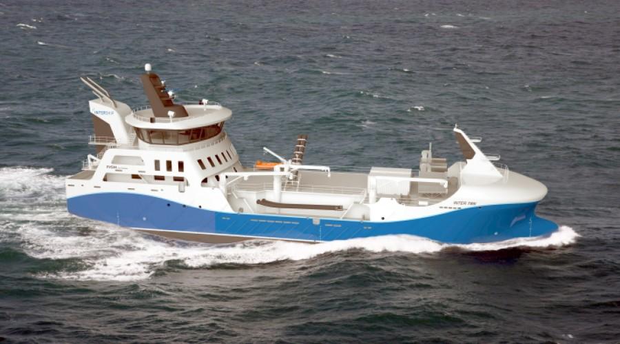 'Inter TBN' er designet av NKS Ship Design og under bygging ved Zamakona Yards Bilbao i Spania . Illustrasjon: NKS Ship Design.