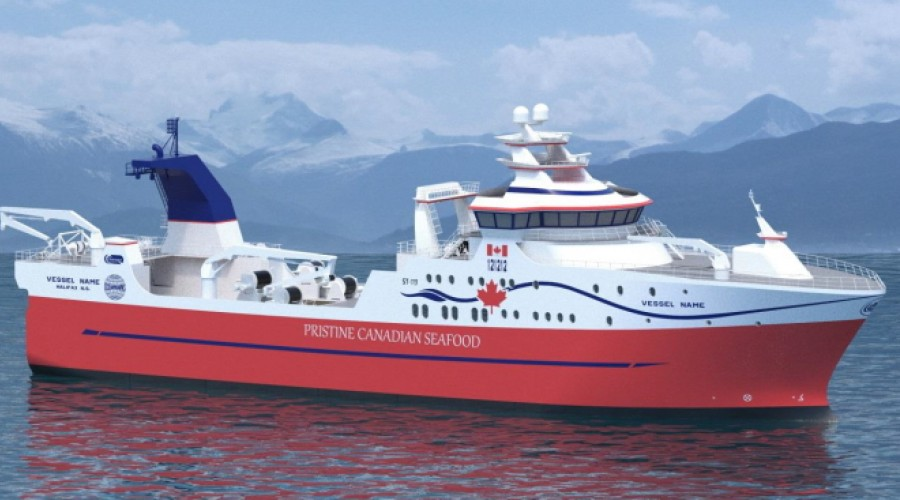 Tråleren er designet av Skipstekniske, og skal være ferdig til siste kvartal av 2022. Illustrasjon: Skipstekniske.