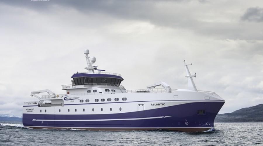 Nye Atlantic er designet av Skipsteknisk, og bygges i Tyrkia. Illustrasjon: Skipsteknisk