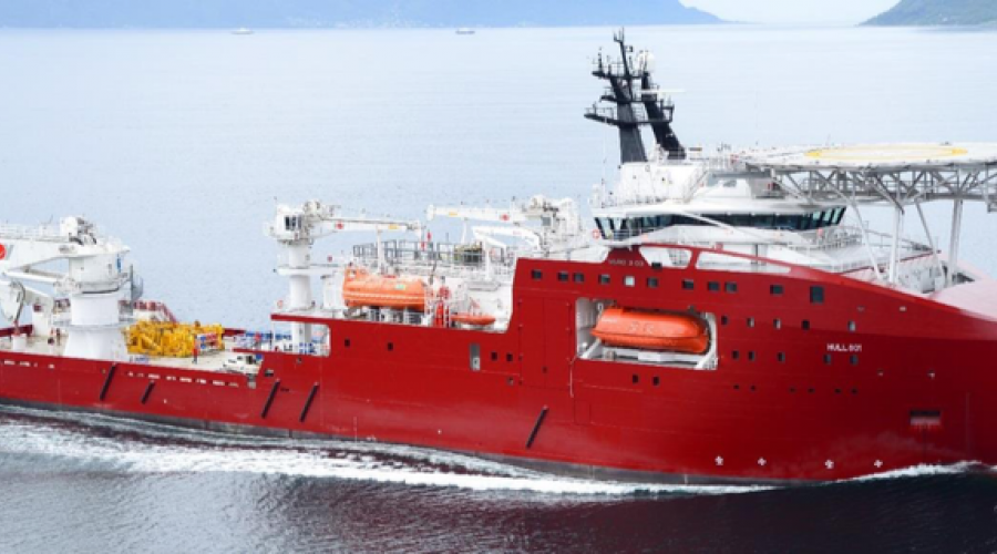 Vard design type 3 03, et 121 meter langt dykkerskip, er nå blitt solgt. Foto: Vard