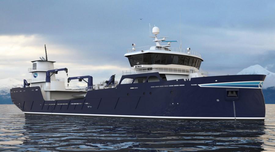 AAS 2502 ST designet som Sølvtrans nå har tre båter i bestilling av hos Aas Mek Verksted. Illustrasjon: Aas Mek Verksted