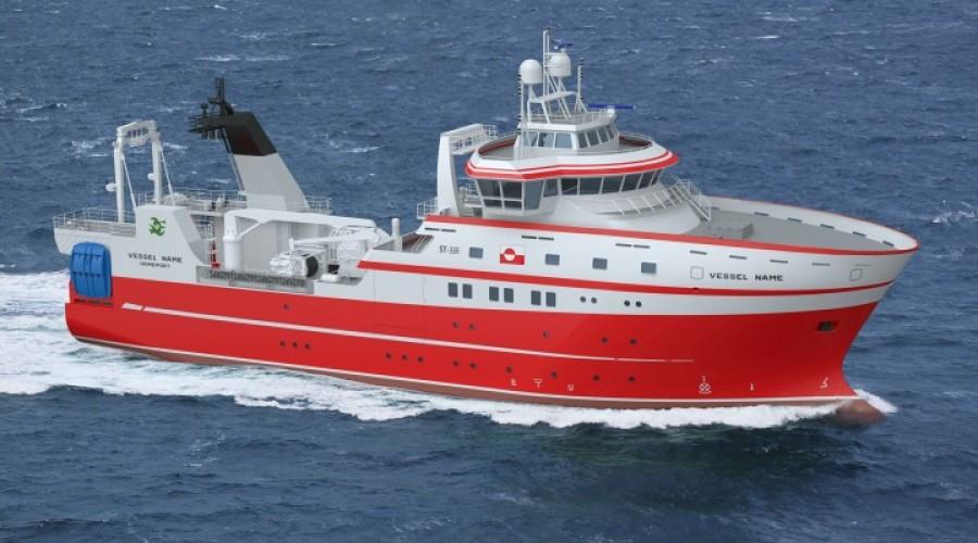 Det nye forskningsskipet skal være i arbeid våren 2021. Illustrasjon: Skipsdesign.