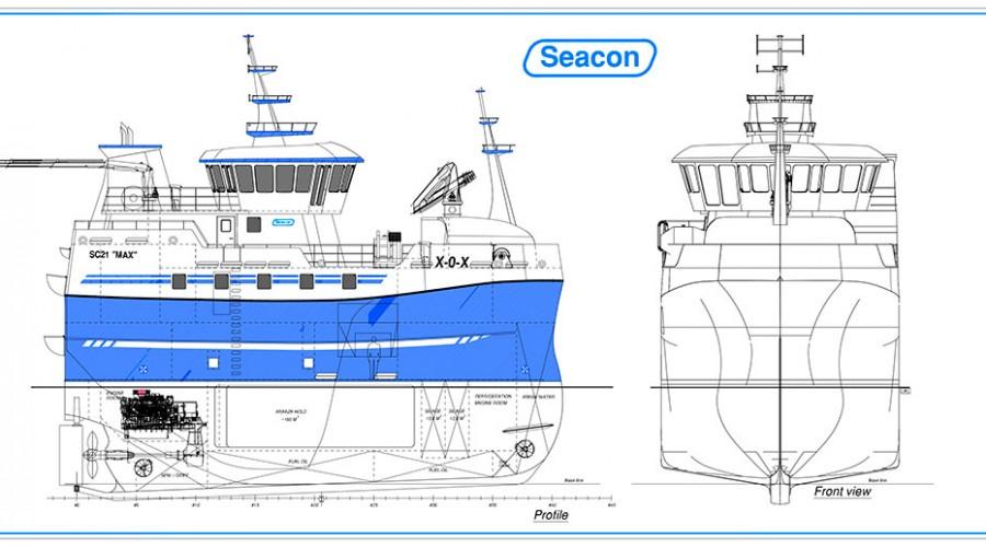 Nybygget som Kenfish II AS skal få levert i juni neste år. Illustrasjon: Seacon.