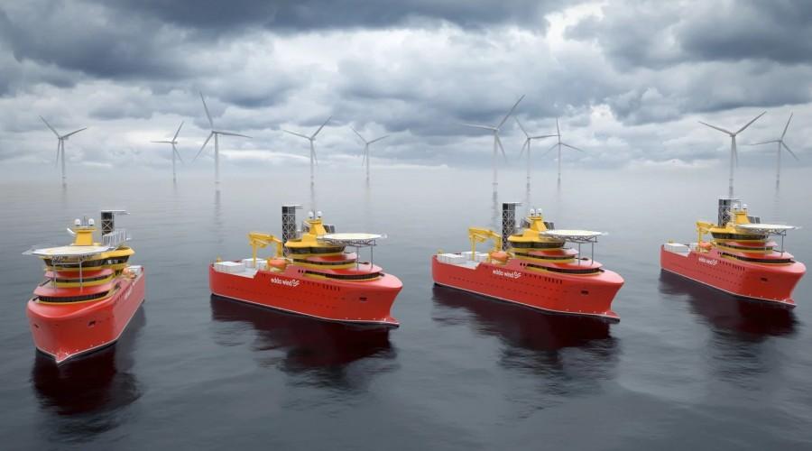 Hydrogenious LOHC Maritime AS skal demonstrere bruk av brenselceller og hydrogen for produksjon av energi på et fartøy. Edda Wind-fartøyene i Østensjø er tilrettelagt for det nye fremdriftssystemet. Ill. Østensjøgruppen.