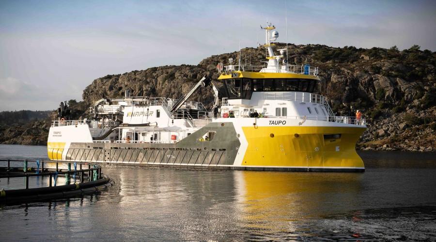 Taupo er en nybygd prosessbåt fra Fitjar Mek. Verksted, med design fra Heimli Ship Design AS. Foto: Napier