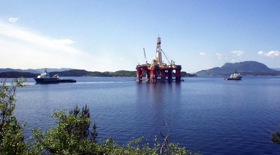 Allerede i morgen lørdag 14. februar siger riggen Transocean Leader inn Ølensfjorden til Westcon for klassing og skroginspeksjon. Foto: Westcon